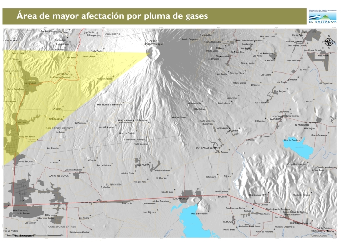 Afectación de gases Vientos Norestes