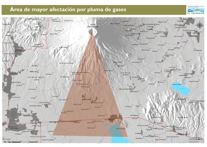 afectación de gases por vientos Nortes